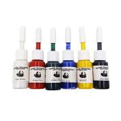 6pcs/set Professional Multi Colours Tattoo Ink Pigment Set Kits 5ml Beauty Makeup Paints Bottles Tools Body Art Accessory, multi colour