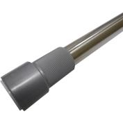 Excell Adjustable 180cm Glide-N-Set Tension Rods, Brushed Nickel