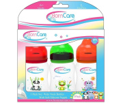 BornCare BCWS-163-3 8oz 250ml Wide Neck Feeding Bottle with Silicone Nipple Fast Flow - 3 Pack