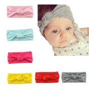 Baby Headbands, HBF 6Pcs Mix Colour Non Slip Baby Girl Headbands Cute Elastic Headband Turban