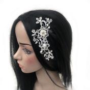 Sufias Accessories Crystal Ivory Pearl Hair Comb Silver Diamante Bridal Vine-Headpiece-Headband Crystal-Ivory-Pearl-Hair-Comb-Silver-Diamante-Bridal-Vine-Headpiece-Headband Crystal-Ivory-Pear