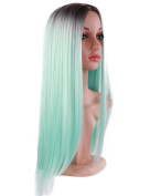 Golden Rule Long Green Wigs Fashion Ombre Heat Resistant Synthetic Straight Wigs for Women Five Colour are Available