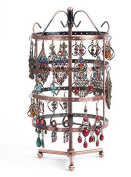 72/96 Holes Three/Four-layer Earring Holder Hanger Rotating Round Jewellery Rack Earring Stand Organiser Jewellery Display Stand