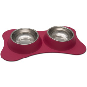 Loving Pets Bone Shaped Flex Diner for Dogs, Small