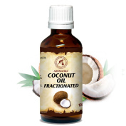 Fractionated Coconut Oil 100ml 100 % pure and natural Coconut Fractionated Oil - best Natural Moisturiser, great benefits for Skin, Nails, Lips, Hair, Face, Body, Scalp, uses as Pure Agent, an excellent with Essential Oil, Great for Beauty, Aromatherap ..
