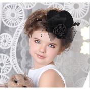 MJW & W Bride's Headdress/Child Top Hat Hair Clip/Art Photo Shoot Photography Props