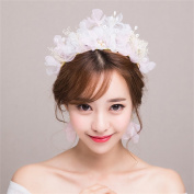 DELLT- Korean bride headdress flowers Sen Department of wedding dress accessories pink bridesmaid hair accessories