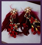 DELLT- Bridal Hair Ornaments Korean Wedding Headdress Wedding Accessories Wedding Party Accessories Jewellery Hair Clips