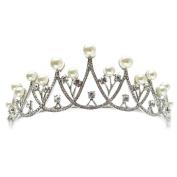 DELLT- Luxury Bride Pearl Diamond Crown Princess Headdress Sweet Hair Ornaments Wedding Wedding Birthday Party Accessories