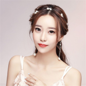 DELLT- Hairdressing hair with earrings set bride headdress wedding jewellery Korean wedding dress accessories