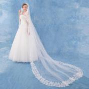 Wedding Bride Veil Length Of Churchveil Petal Edge White Ivory Double Layer Hip Length