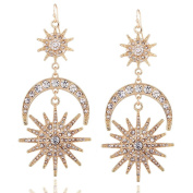 Sun and Moon Earrings for Women's party /wedding Jewellery Accessories