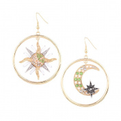 Women's Sun and Moon Asymmetry Earrings for party /wedding Special Occasion Jewellery Accessories