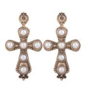 Women's Pearl cross Earrings for party /wedding Jewellery