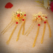 MJW & G Bride's Flower Shape Rhinestone Forehead Wedding Hairpins 1 PC