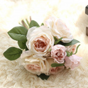 Xshuai® Artificial Fake Flowers Rose Bouquet Floral for Wedding Party Birthdays Garden Home Decoration