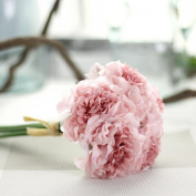 Xshuai® Artificial Silk Fake Flowers Peony Floral Wedding Bouquet Bridal Hydrangea for Wedding Party Birthdays Anniversaries Valentines Home Decoration