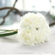 Xshuai® Artificial Silk Fake Flowers Peony Floral Wedding Bouquet Bridal Hydrangea for Wedding Party Birthdays Anniversaries Valentines Home Decoration