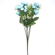 Pretty Charming Delightful 15 Buds 1 Bouquet Mini Rose Artificial Silk Flower Bride Bridal Home Decal