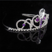 Women Rhinestone Headpiece Bride Headdress Crown Princess for Wedding / Engagement / Birthday / Gift / Party / Special Occasion Dress Jewellery Accessories,H4.5cm