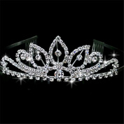 Women Rhinestone Headpiece Bride Crown Wedding Dress Accessories for Wedding /Engagement / Birthday / Gift / Party / Special Occasion Dress Jewellery Accessories