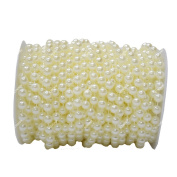 ICTRONIX 20m/Roll 10mm Artificial Big Pearl Beads String Curtain Hanging Bead Curtain Wedding Club Party Decoration