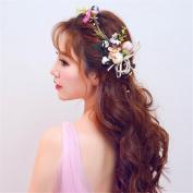 Bridal hair hoop headdress flowers wedding dress accessories