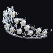 Korean bride crown white diamond crystal hair ornaments alloy accessories