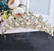 Korean bride crown diamond wedding head ornaments