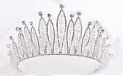 European - style atmosphere bride crown white diamond ornaments headdress accessories