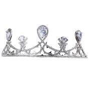 Korean bride artificial zircon crown simple decorative jewellery