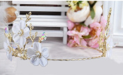 Korean bride crown simulation flowers crystal ornaments with accessories