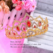 Europe and the United States retro baroque crown heart gold bride head ornaments
