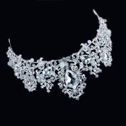 European and American bride crystal crown head ornaments