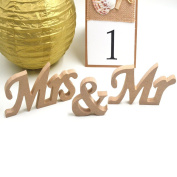 Treasure-house Mr and Mrs White Wooden Letters & Sign Wedding Bunting Banner