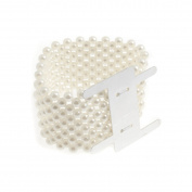 S & W Bridal B1701IV | Wrist Band | Pearl | 35mm | Ivory