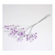 S & W Bridal B1990LLSL | Fine Bead Bunch | Pack of 6 | Lilac/Silver