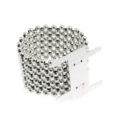 S & W Bridal B1701SL | Wrist Band | Pearl | 35mm | Silver