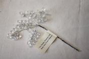 Clear Acrylic Crystal Leaf & Flower Spray
