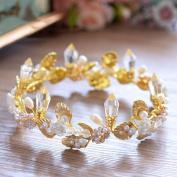 European-style bride Baroque golden crystal crown crown ornaments