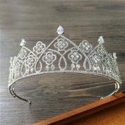 Korean bride big crown diamond rhizome simple atmosphere headdress jewellery high - end luxury
