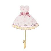 HAPPYQUDA 2pcs Lovely Resin Dress Robe Towel Hook Hanger Wall Mounted Dress Pattern