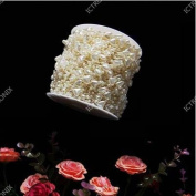 60M/Roll Ivory Heart Shaped Pearl String Party Garland Wedding Centrepieces Bridal Bouquet Crafts Decoration