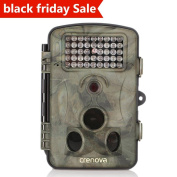 Crenova Trail Camera 12MP 1080P HD Wildlife Camera with 130° Wide Angle Lens 120° Detection 42 Pcs 940nm Updated IR LEDs Night Version up to 20M/20m Hunting Camera with IP66 Water Protected Design