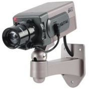 Ex-Pro High Quality Dummy / Fake CCTV Security Camera /indoor housing camera. With built-in flashing LED. Mounting bracket included.