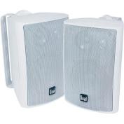 Dual 10cm 3-Way Indoor/Outdoor Speaker White