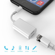 iPhone 7 Adapter & amp; Splitter, Bangde 2 in 1 Dual Lightning Headphone Audio & amp; Charge Adapter for iPhone 7 / 7 Plus
