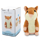 APUPPY Cute Mimicry Pet Talking Hamster Repeats What You Say Plush Animal Toy Electronic Hamster Mouse for Children/Toy Gifts Birthday Gifts Christmas Gift,7.6cm x 14cm