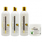 "Dominican Magic Nourishing Shampoo & Conditioner & Moisture Lock Leave on & Revitalising Hair Mask""Set"""