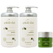 "Scruples White Tea Restorative Shampoo & Conditioner 950ml & Velvet Moulding Gloss 45ml ""Set"""